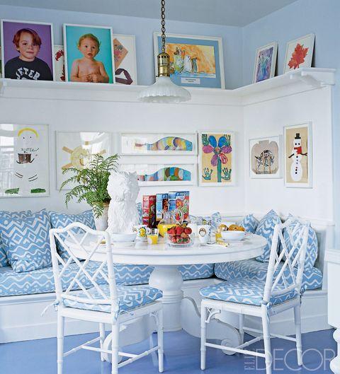 Blue, Room, Interior design, Furniture, Table, Style, Turquoise, Home, Aqua, Teal,
