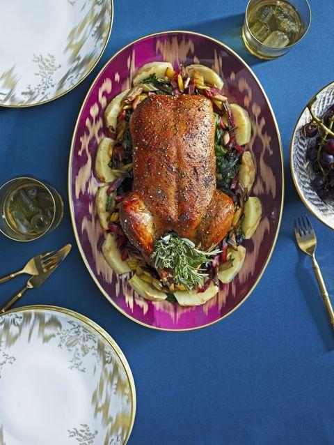 Dishware, Serveware, Cuisine, Food, Tableware, Plate, Meat, Dish, Roasting, Ingredient,