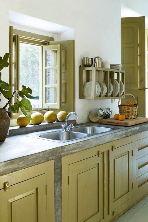 "<p>You don't need to replace them: ""Painting the cabinetry a bright, fun, glossy color is a great way to make a kitchen come alive,"" says designer <a href=""http://www.sarastorydesign.com/"">Sara Story</a>.</p>"