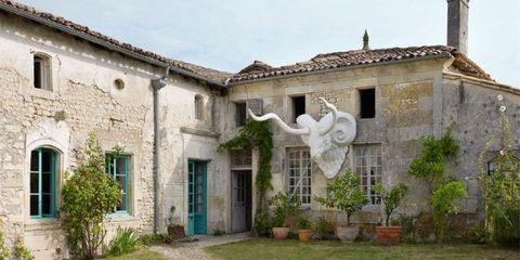 Window, Door, House, Sculpture, Brick, Yard, Flowerpot, Hacienda, Courtyard, Backyard,