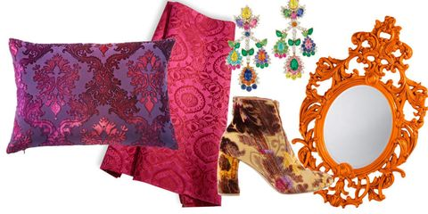 Textile, Purple, Pink, Cushion, Magenta, Orange, Maroon, Home accessories, Interior design, Throw pillow,