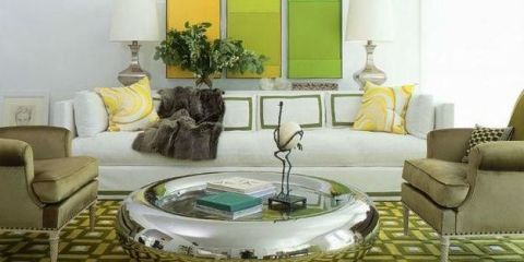 Green, Interior design, Room, Yellow, Living room, Floor, Wall, Furniture, Couch, Table,