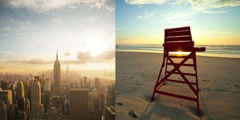 Tower block, Horizon, Landscape, Atmosphere, Urban area, Sunlight, Ocean, Tower, Condominium, Metropolitan area,