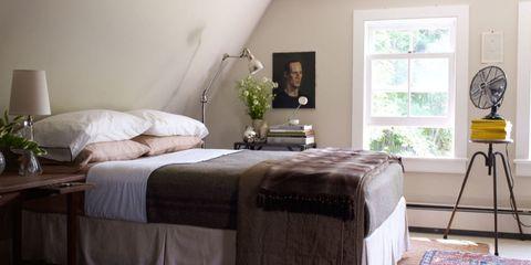 Room, Bed, Interior design, Floor, Property, Textile, Bedding, Flooring, Bedroom, Furniture,