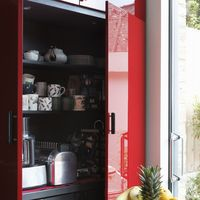 "<p>Coffee maker, toaster oven, microwave—all your small appliances can quickly overwhelm your workspace. Designer <a href=""http://www.laurenlevant.com/"" target=""_blank"">Lauren Levant Bland</a> suggests turning a couple cabinets into an appliance pantry by adjusting the shelving and adding electrical outlets. ""The appliances stay plugged in and operate right there, but then you can shut the door."" Just unplug them first and wait till they cool down!</p>"