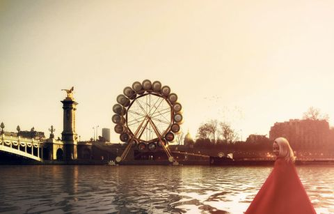 Ferris wheel, Water, Tourism, Leisure, Landmark, World, Sunlight, Amusement ride, Lake, Nonbuilding structure,