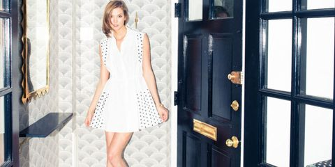 Clothing, Shoulder, Human leg, Dress, Style, One-piece garment, Street fashion, Knee, Fixture, Pattern,