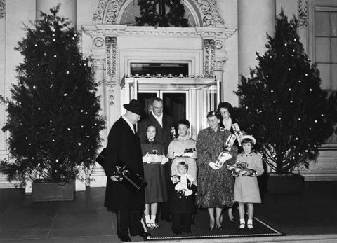 <p>President Eisenhower poses for Christmas pictures at the White House with his family on December 23rd, 1958.</p>