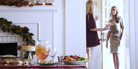 Interior design, Dress, Serveware, Room, Table, Interior design, Tableware, Drink, Meal, One-piece garment,