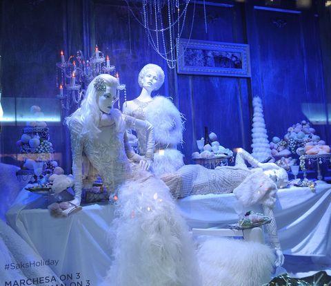 Dress, Petal, Purple, Lavender, Gown, Decoration, Wedding dress, Sculpture, Embellishment, Haute couture,