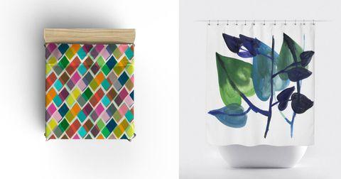 Colorfulness, Aqua, Teal, Paper product, Turquoise, Rectangle, Box, Paint, Art paint, Vase,