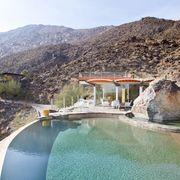Mountainous landforms, Swimming pool, Mountain, Mountain range, Real estate, Resort, Azure, Hill, Aqua, Resort town,