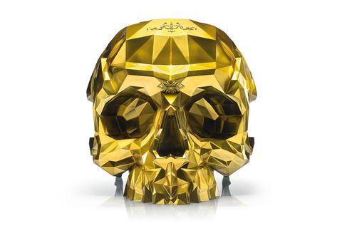 Yellow, Bone, Skull, Personal protective equipment, Mask, Symmetry, Fictional character,