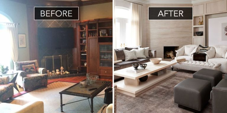 Family room before and after family room design ideas for Family room renovations