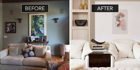 Family Room Before And After - Family Room Design Ideas