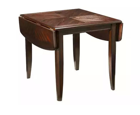 The Reverse Diamond Veneer Patterns On Top Of This Table Add A Touch Glamour To Otherwise Simple Design