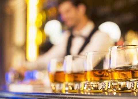 Fluid, Alcohol, Alcoholic beverage, Drink, Barware, Drinkware, Serveware, Tableware, Amber, Distilled beverage,