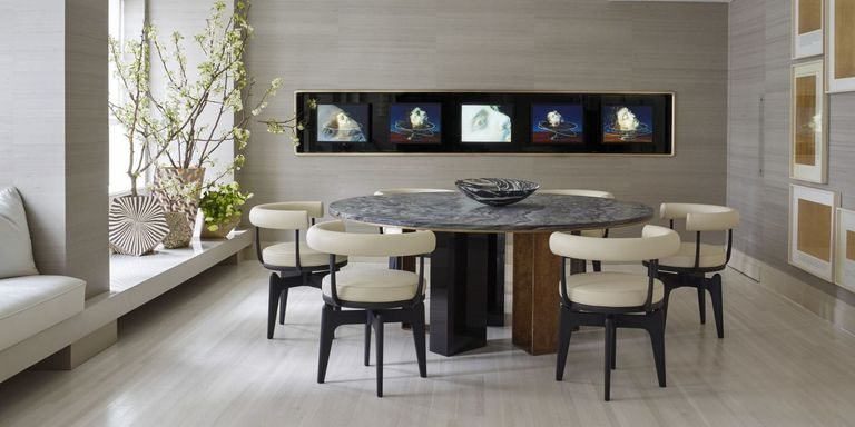 dont let your dining table sit forgotten until thanksgiving take a cue from these well appointed designer spaces and create a room you and your family - Modern Dining Room Table Decor