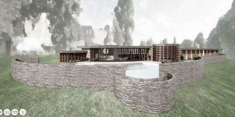 Take A Virtual Tour Of A Frank Lloyd Wright House That Was Never Built