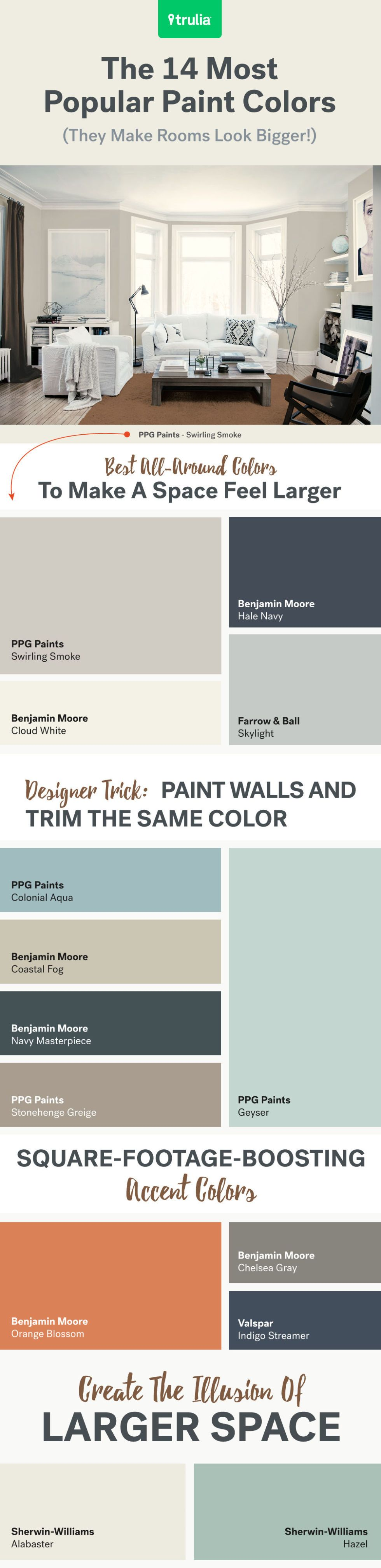 image Paint Colors For Small Rooms
