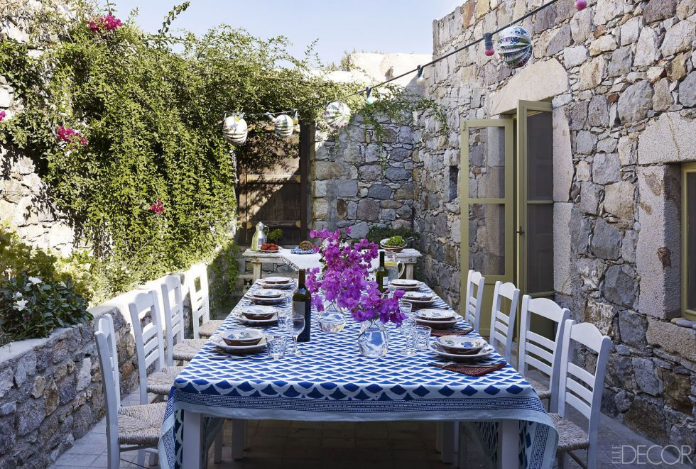 "<p>Swept away by the Greek island of Patmos, a French fashion executive transformed the ruins of a stable into the ultimate rustic retreat. <a href=""http://www.elledecor.com/design-decorate/house-interiors/g47/patmos-greece-house-tour/?"" target=""_blank"">Get the house tour here.</a></p>"