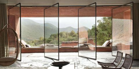 Glass, Mountain range, Fixture, Iron, Shade, Metal, Outdoor furniture, Daylighting, Composite material, Building material,