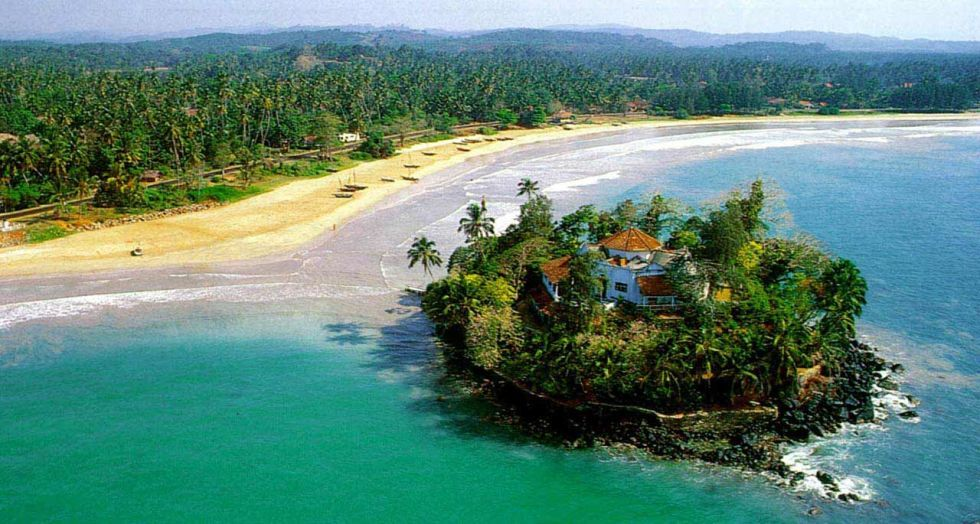 "<p>The itty-bitty <a href=""http://www.taprobaneisland.com/"">Taprobane Island</a>, located off Sri Lanka's southern coast, features a sprawling home as its centerpiece: An octagonal house with five bedrooms, all with sea views. For $1,750 per night, guests can swim in the sea or in the infinity pool, and cool off in the two-acre garden surrounded by palms, hibiscus, bougainvillea, orchids, and much more.</p>"