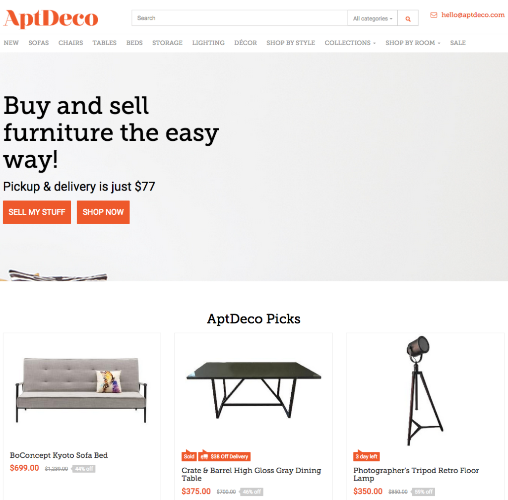 Dubbed The New And Improved Craigslist, AptDeco Is A Platform For  Secondhand Furniture Based In New York City And Washington D.C..