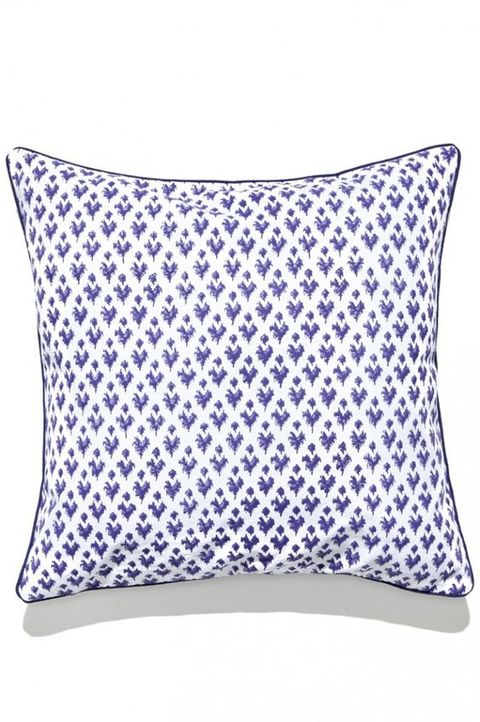 Blue, Cushion, Textile, Pillow, Throw pillow, Purple, Linens, Electric blue, Lavender, Home accessories,