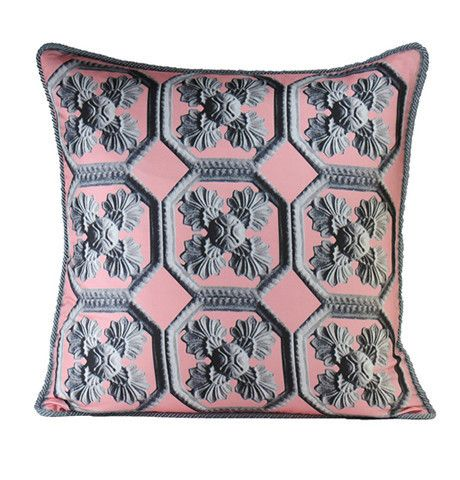 A Wrought Iron Gate In Paris Finds Its Way To This Luxe Silk Pillow From London Based Textile Designer Alexandra D Foster