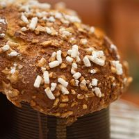"<p>In Italy, Easter wouldn't be complete without the Colomba di Pasqua. The sweet bread is <a href=""http://www.food.com/recipe/easter-dove-colomba-di-pasqua-453395"">shaped like a dove</a> and is baked with pearl sugar and almonds on top. </p>"