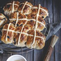 "<p>Traditionally served in the U.K., Ireland, and Australia on <a href=""http://www.smithsonianmag.com/smart-news/five-great-myths-about-hot-cross-buns-traditional-pre-easter-pastry-180951130/"">Good Friday</a>, hot cross buns are as synonymous with Easter as the Easter Bunny himself.</p>"