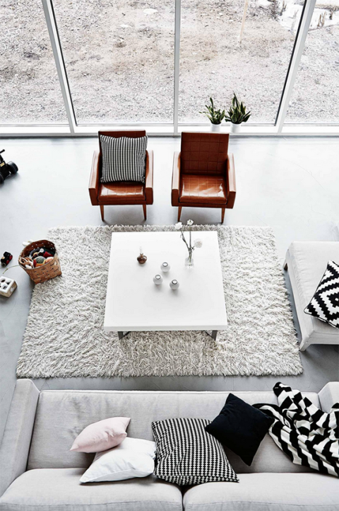 Black And White Decor. Inside Out. Black And White Living Room