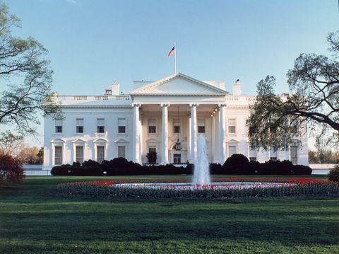 Flag, Government, Landmark, Garden, Shrub, Lawn, Mansion, Official residence, Villa, Palace,