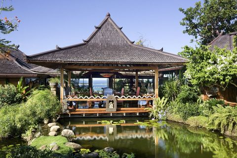 Pond, Garden, Waterway, Roof, Gazebo, Reflection, Botany, Pavilion, Shade, Chinese architecture,