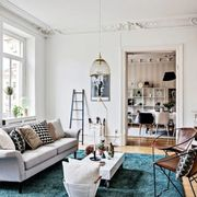 Interior design, Room, Floor, Living room, Wood, Home, Furniture, Flooring, White, Wall,