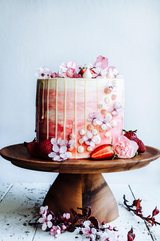 Strawberry and Vanilla Bean Cake