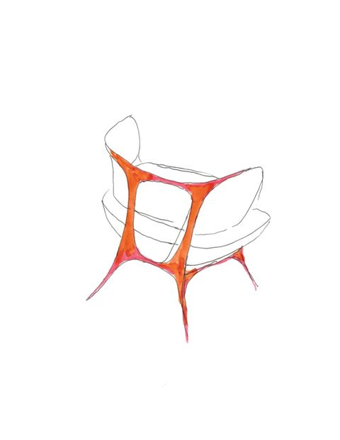 Orange, Peach, Graphics, Artwork, Drawing, Illustration, Line art, Sketch, Child art,