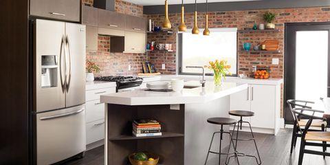 Room, Lighting, Interior design, Floor, Ceiling, Table, Wall, Light fixture, Furniture, Interior design,