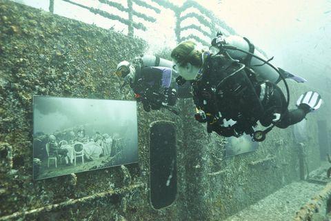 Andreas Franke's art photography exhibit is underwater near Key West
