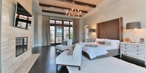 Wood, Bed, Room, Lighting, Interior design, Floor, Property, Wall, Architecture, Drawer,
