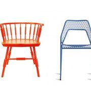 Product, Furniture, Line, Orange, Parallel, Wicker, Design, Rectangle, Outdoor furniture, Windsor chair,