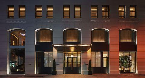Facade, Commercial building, Fixture, Door, Mixed-use, Headquarters,