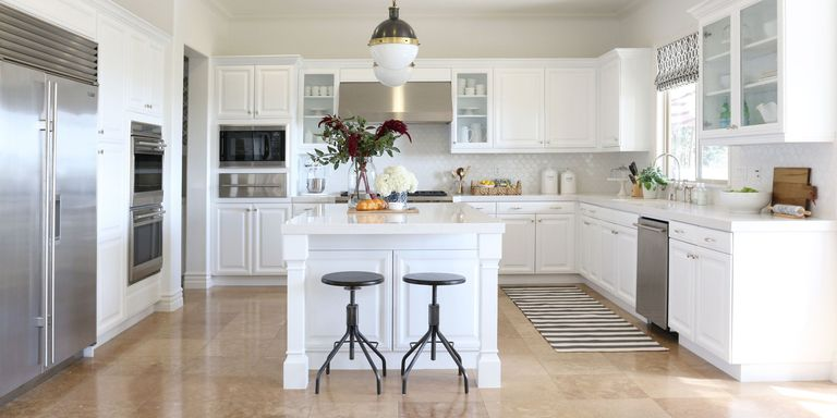 bright white cabinetry bounces light and makes for a modern kitchen - Cabinets Design Ideas