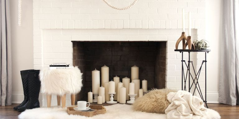 How to fill and decorate a fireplace that doesn
