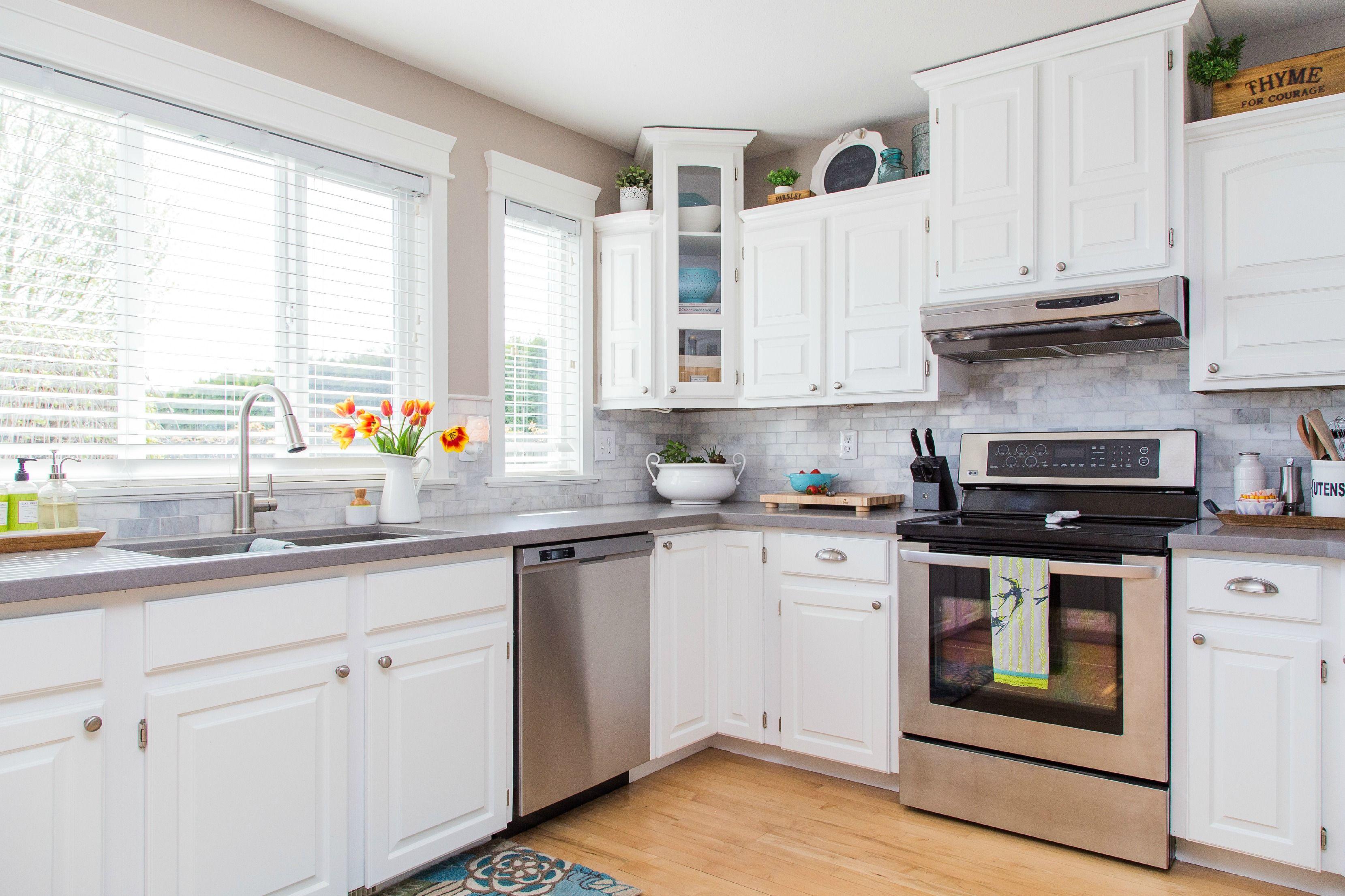 Attractive White Kitchen Cabinets