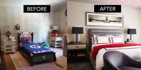 Room, Wood, Interior design, Wall, Furniture, Floor, Bedding, Lamp, Drawer, Bedroom,
