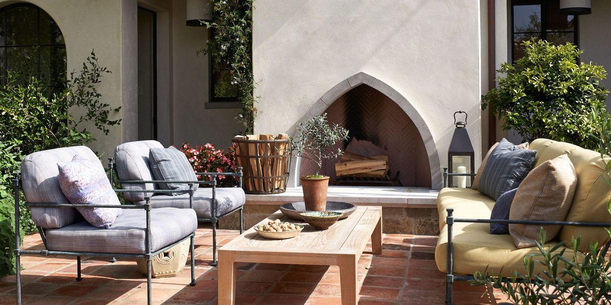15 Outdoor Fireplace Design Ideas - Best Backyard Fire Pits on Outdoor Fireplace Decorations id=20206