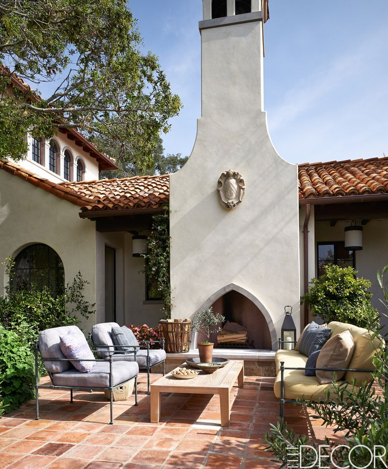 12 Outdoor Fireplace Design Ideas - Best Backyard Fire Pits on Backyard Outdoor Fireplace id=77352