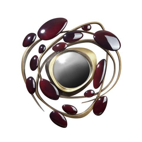 Red, Maroon, Art, Circle, Metal, Silver, Body jewelry, Still life photography, Gemstone, Oval,